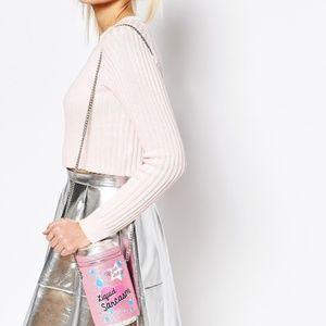 ASOS TOPSHOP CAN OF LIQUID SARCASM CROSSBODY BAG